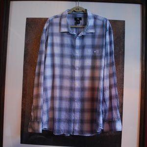 Calvin Klein Button Up XXL Dress Shirt Blue